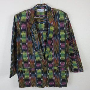 Angelique Vintage Oversized Southwest Blazer